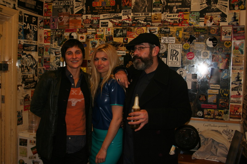 Myself, Tessa Ditner, Dave McGowan backstage Hootananny in Brixton