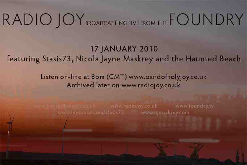 Radio Joy 8pm GMT  -  LIVE from The Foundry!!!