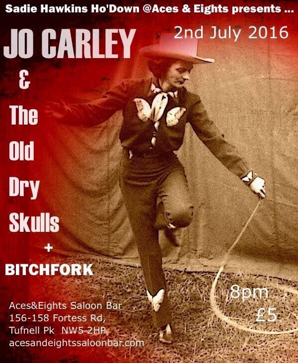 Fabulous JO CARLEY & THE OLD DRY SKULLS - July 2016
